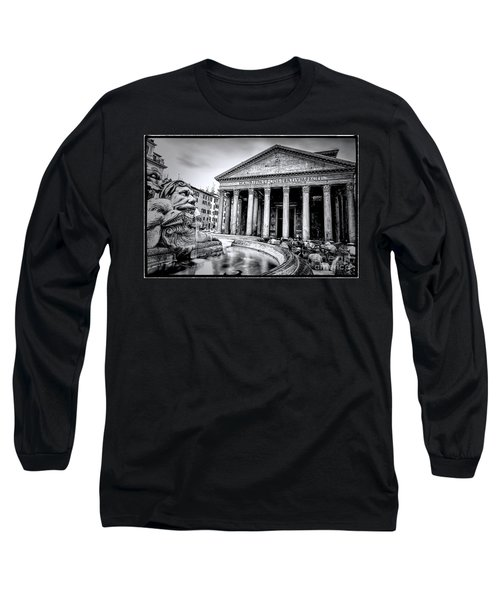 0786 The Pantheon Black And White Long Sleeve T-Shirt