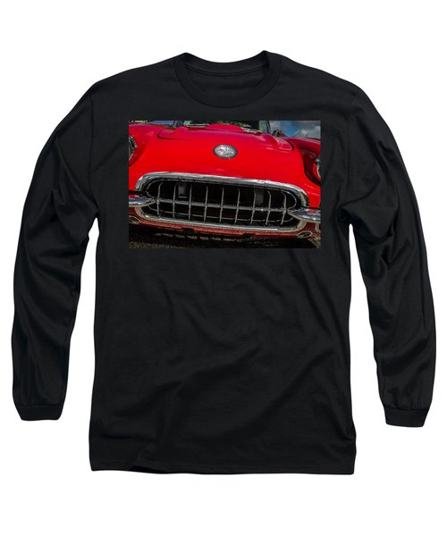 1958 Chevrolet Corvette Grille Long Sleeve T-Shirt
