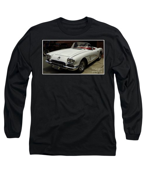 Long Sleeve T-Shirt featuring the photograph 1958 Chevrolet Corvette by James C Thomas