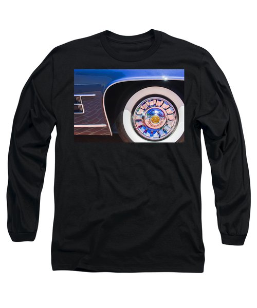 Long Sleeve T-Shirt featuring the photograph 1962 Ghia L6.5 Coupe Wheel Emblem by Jill Reger