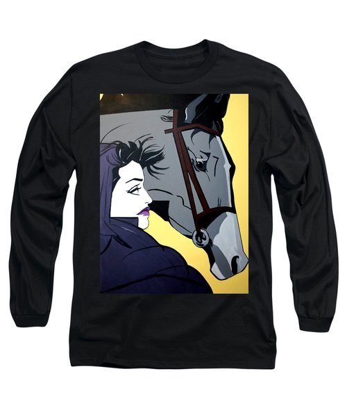 Long Sleeve T-Shirt featuring the painting 2 Beauties by Nora Shepley