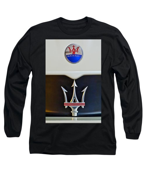 2005 Maserati Mc12 Hood Emblem Long Sleeve T-Shirt by Jill Reger