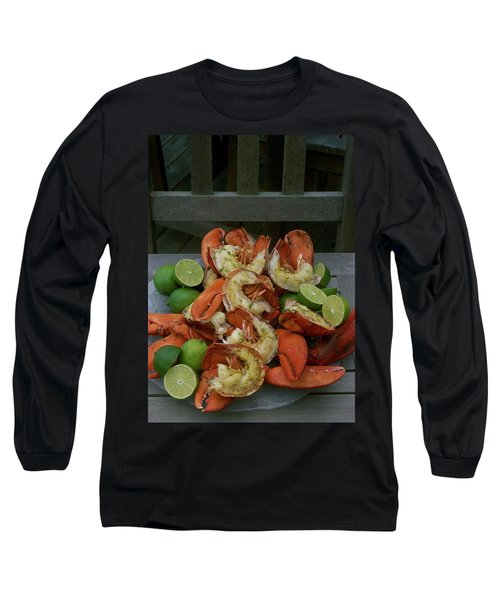 A Meal With Lobster And Limes Long Sleeve T-Shirt