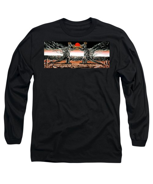 Long Sleeve T-Shirt featuring the painting Abiogenic Memetics  by Ryan Demaree