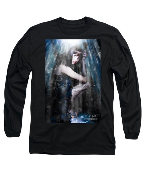 Actress In Stage Spotlight Long Sleeve T-Shirt