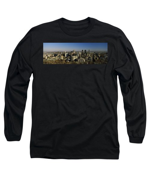 Aerial View Of Skyscrapers In A City Long Sleeve T-Shirt