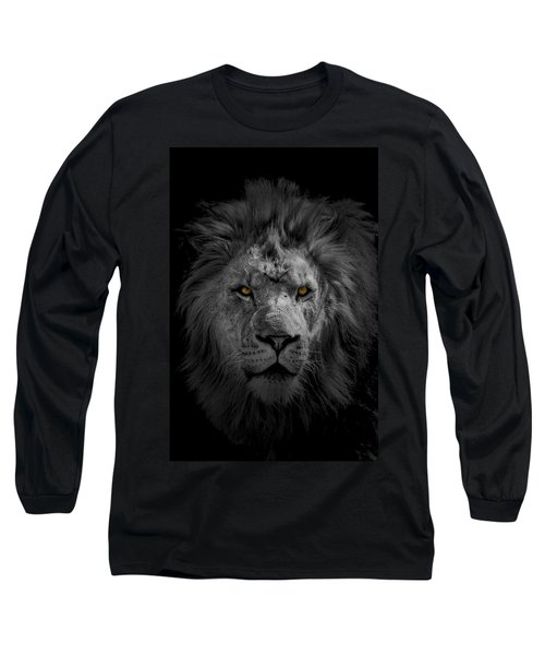 African Lion Long Sleeve T-Shirt