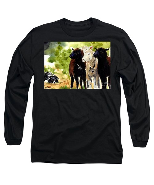 All Eyes Long Sleeve T-Shirt by Molly Poole