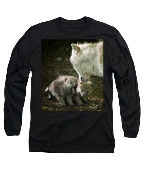 Arctic Wolf Pups Long Sleeve T-Shirt