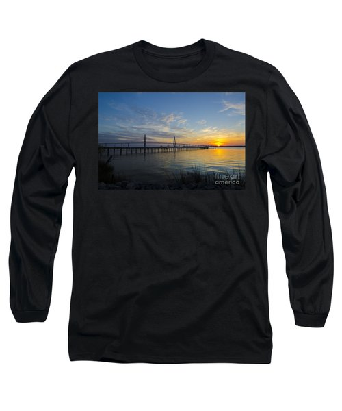 Sunset Over The Charleston Waters Long Sleeve T-Shirt by Dale Powell