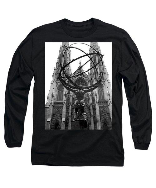 Atlas In Rockefeller Center Long Sleeve T-Shirt
