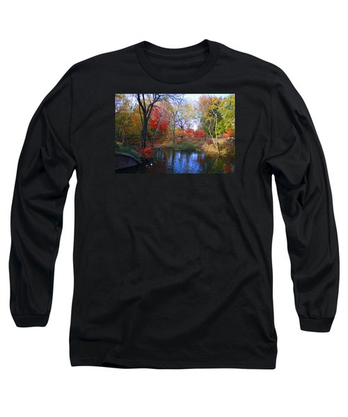 Autumn By The Creek Long Sleeve T-Shirt by Dora Sofia Caputo Photographic Art and Design