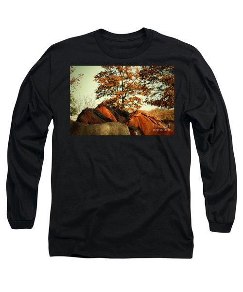 Autumn Wild Horses Long Sleeve T-Shirt