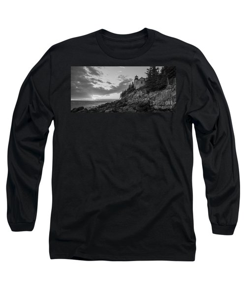 Bass Harbor Head Light Sunset  Long Sleeve T-Shirt