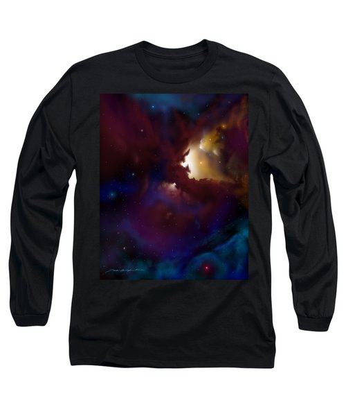 Bat Nebula Long Sleeve T-Shirt