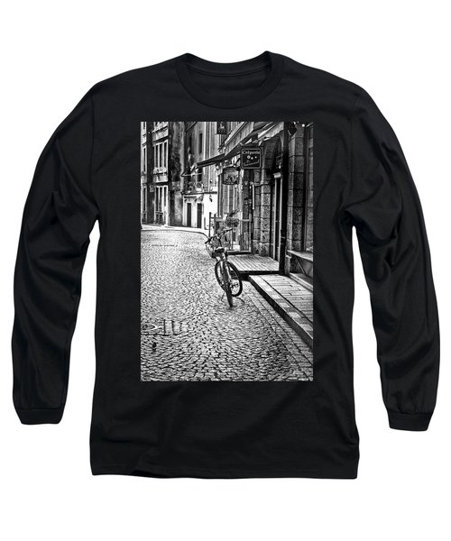 Long Sleeve T-Shirt featuring the photograph Bicycle And Sparrow 2  by Elf Evans