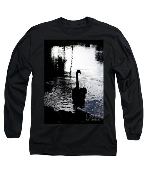 Long Sleeve T-Shirt featuring the photograph Black Swan by Roselynne Broussard