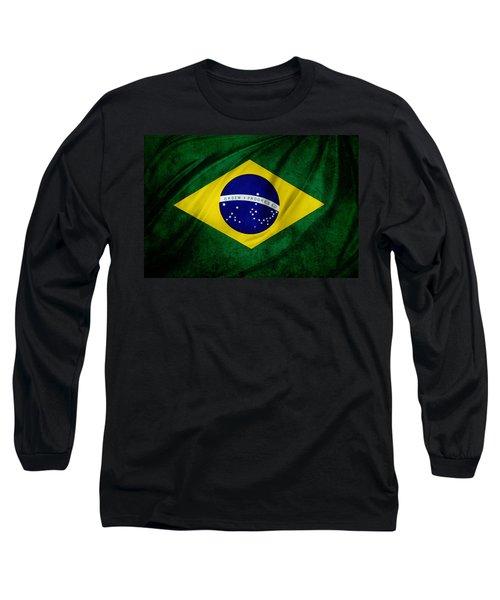 Brazilian Flag Long Sleeve T-Shirt