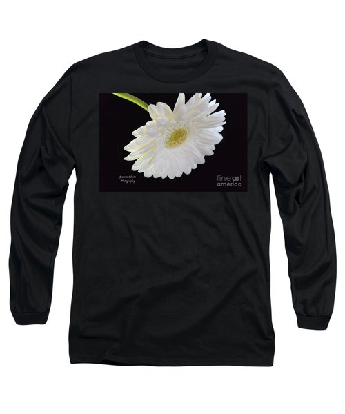 Long Sleeve T-Shirt featuring the photograph Bright White Gerber Daisy # 2 by Jeannie Rhode