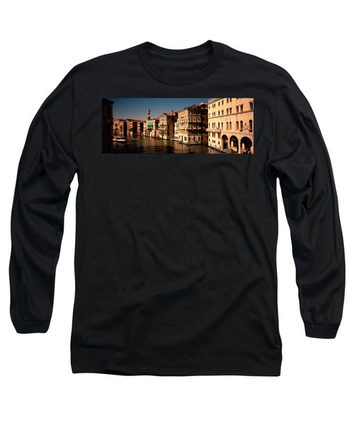 Buildings On The Waterfront, Venice Long Sleeve T-Shirt