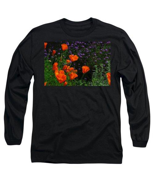 California Poppies Long Sleeve T-Shirt by Lynn Bauer