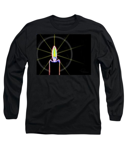 Candle Long Sleeve T-Shirt by Ludwig Keck