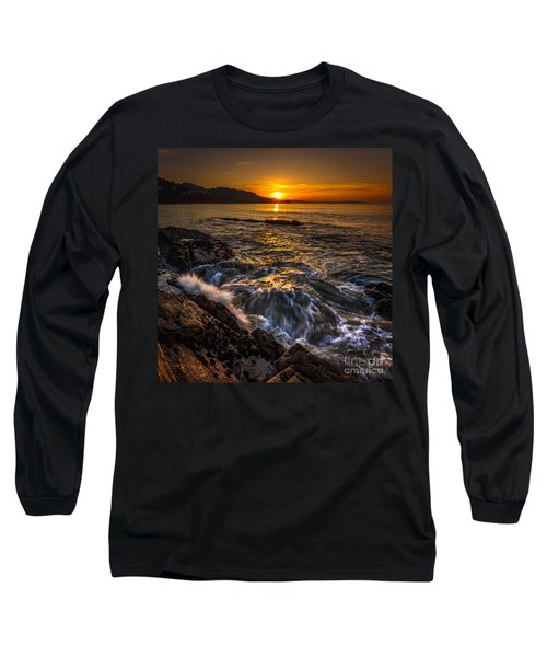 Chamoso Point In Ares Estuary Galicia Spain Long Sleeve T-Shirt by Pablo Avanzini