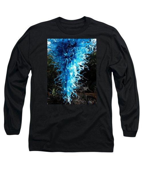Chihuly In Blue Long Sleeve T-Shirt by Menachem Ganon