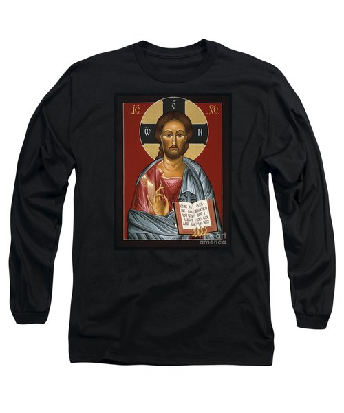 Christ All Merciful 022 Long Sleeve T-Shirt by William Hart McNichols
