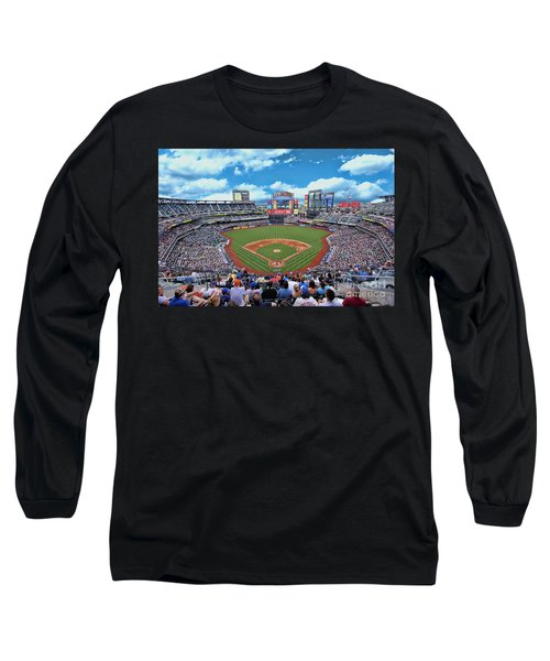 Citi Field 2 - Home Of The N Y Mets Long Sleeve T-Shirt