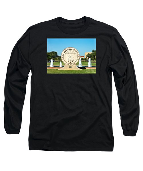 Long Sleeve T-Shirt featuring the photograph Classical Image Of The Texas Tech University Seal  by Mae Wertz