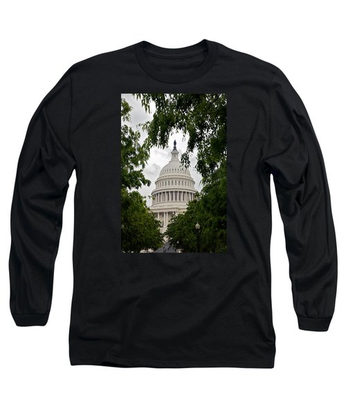 Clouds Over The Capitol Long Sleeve T-Shirt by Lawrence Boothby
