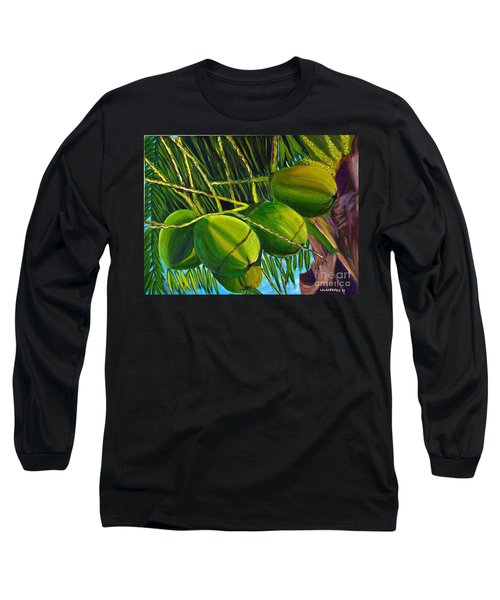 Coconuts At Sunset Long Sleeve T-Shirt