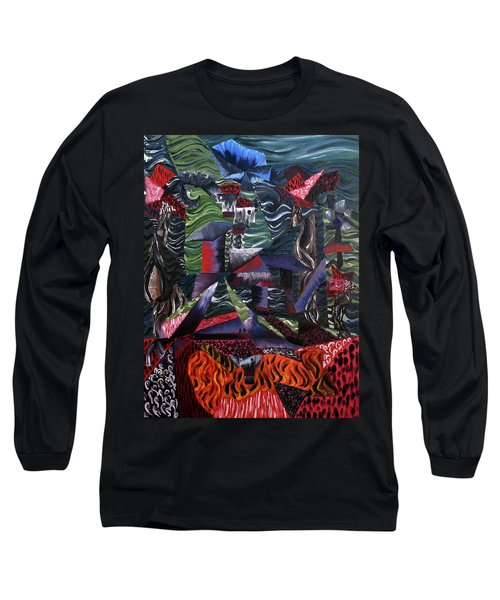 Long Sleeve T-Shirt featuring the painting Cocytemensia by Ryan Demaree