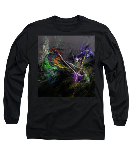 Long Sleeve T-Shirt featuring the digital art Conflict by David Lane