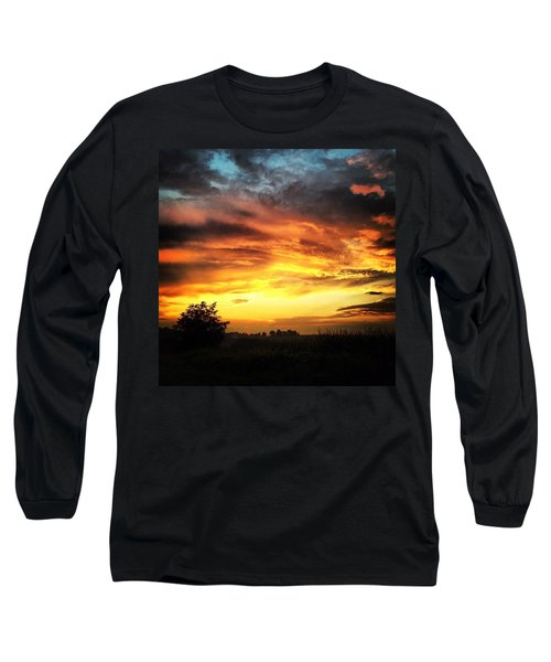 Country Scene From Hilltop To Hilltop Long Sleeve T-Shirt
