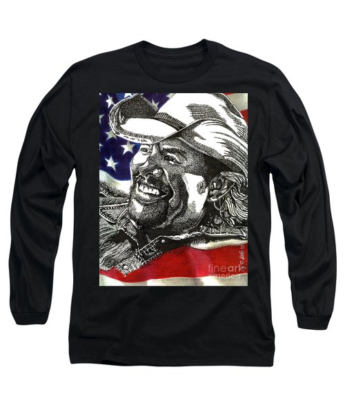 Courtesy Of The Red White And Blue Long Sleeve T-Shirt