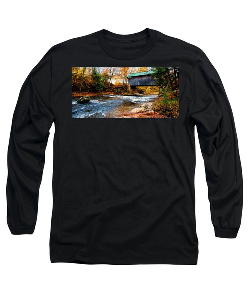 Covered Bridge Long Sleeve T-Shirt by Bill Howard
