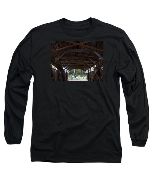 Covered Bridge Long Sleeve T-Shirt by Catherine Gagne
