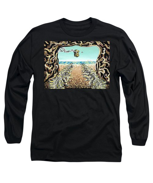 Long Sleeve T-Shirt featuring the painting Cult Erie by Ryan Demaree
