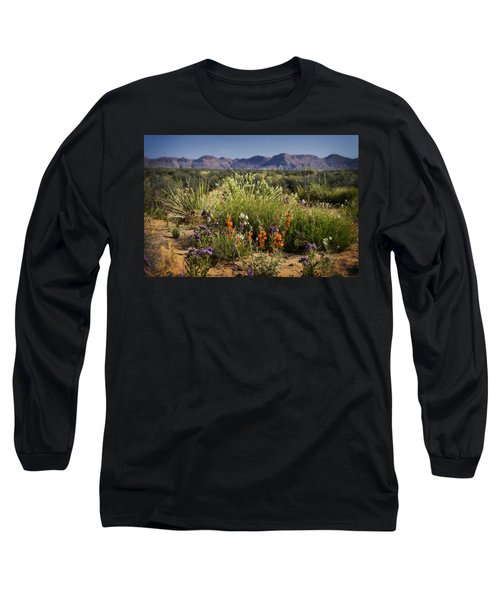 Desert Wildflowers Long Sleeve T-Shirt by Saija  Lehtonen