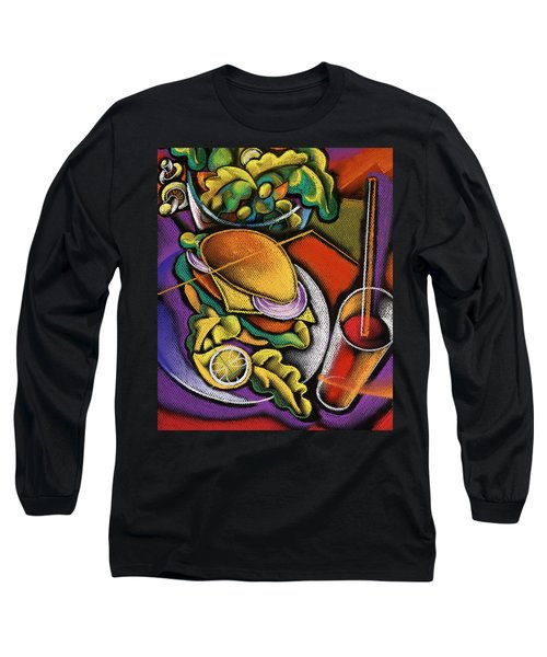 Food And Beverage Long Sleeve T-Shirt by Leon Zernitsky