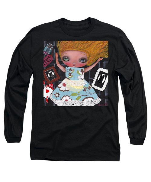 Down The Rabbit Hole Long Sleeve T-Shirt by Abril Andrade Griffith