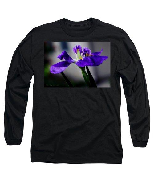 Elegant Iris Long Sleeve T-Shirt