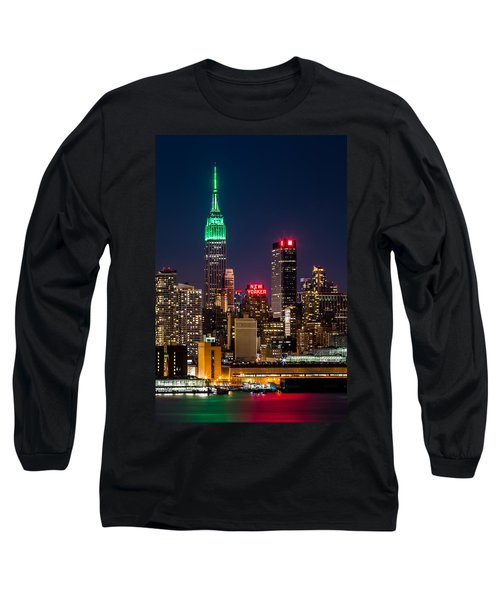 Empire State Building On Saint Patrick's Day Long Sleeve T-Shirt