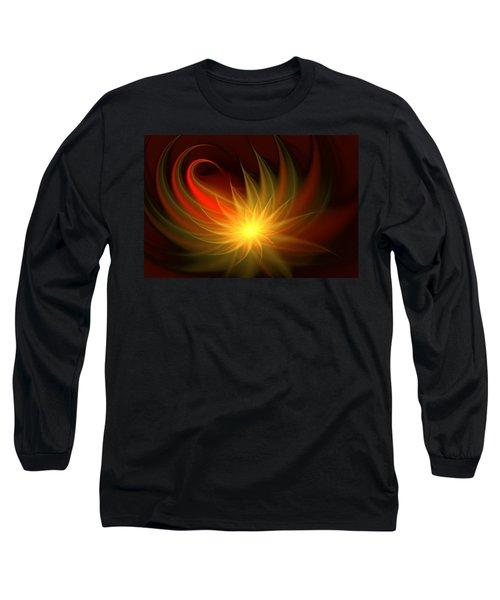 Long Sleeve T-Shirt featuring the digital art Exotic Flower by Svetlana Nikolova