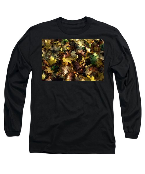 Long Sleeve T-Shirt featuring the digital art Fallen Leaves by Ron Harpham