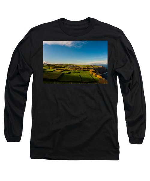 Fields Of Green And Yellow Long Sleeve T-Shirt