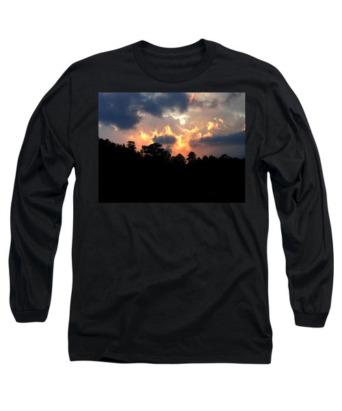 Long Sleeve T-Shirt featuring the photograph Fire In The Sky by Craig T Burgwardt