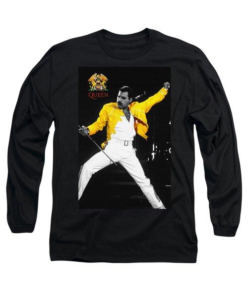 Freddie Mercury Live In Wembley1986    Long Sleeve T-Shirt